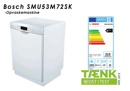 Bosch Opvaskemaskine SMU53M72SK Bedste Testvinder i Tænk